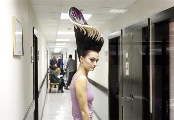 Alternative Hair Show 2011 Moscow, photo courtesy: REUTERS/Denis Sinyakov