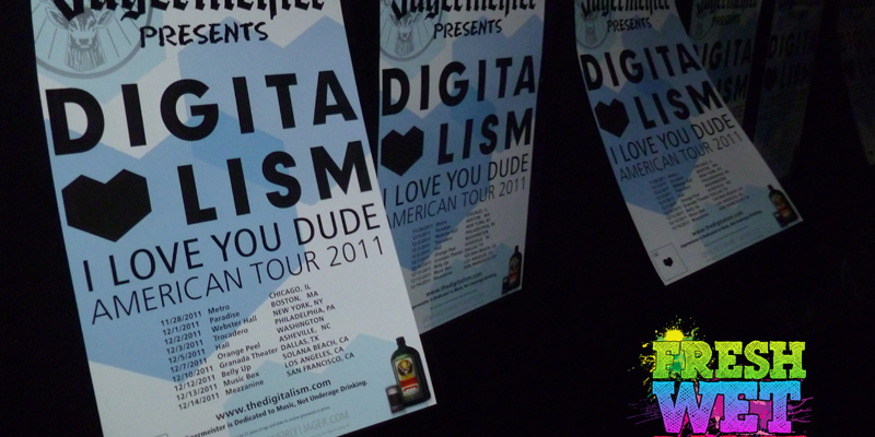 Digitalism flyers in Chicago