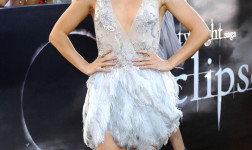 Nikki Reed Feather Dress