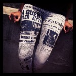 Black Milk newspaper leggings