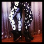 Black Milk cross leggings