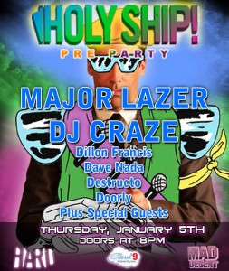 Holy Ship! Pre-Party flyer