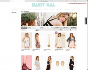 Nasty Gal site