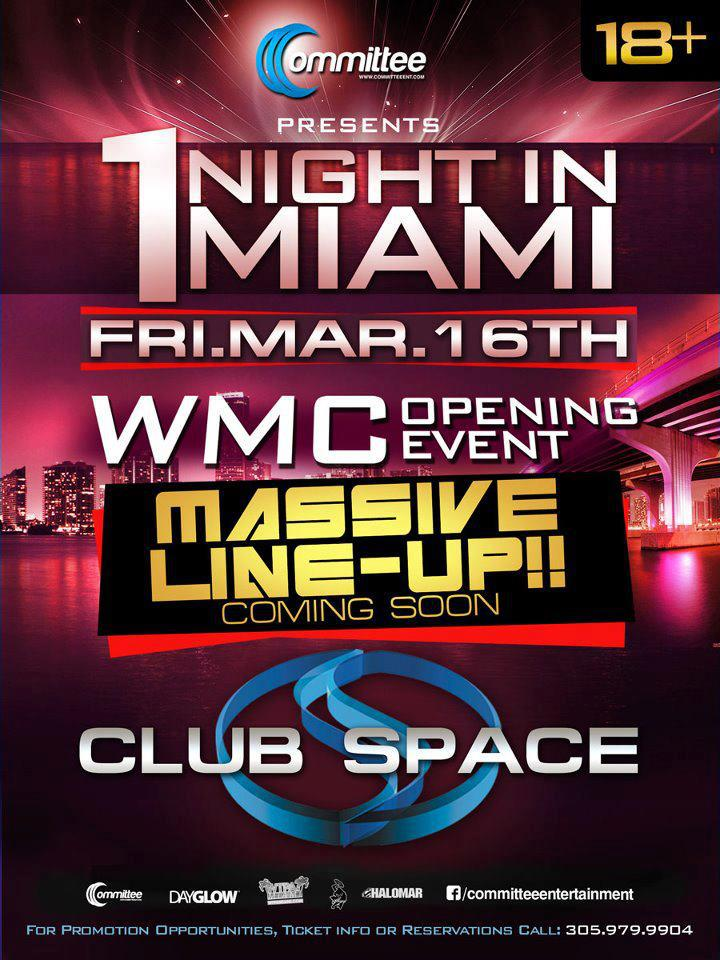 1 Night In Miami March flyer
