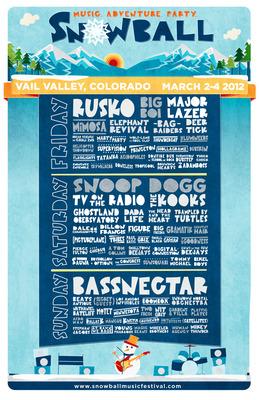 Snowball Music Festival 2012 lineup