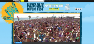 Hangout MySpace live stream
