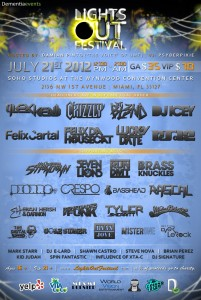 Lights Out Festival 2012 line-up flyer phase 2