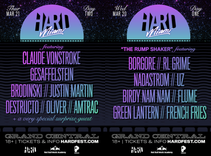 HARD WMC/MMW Grand Central Two Day Line-up