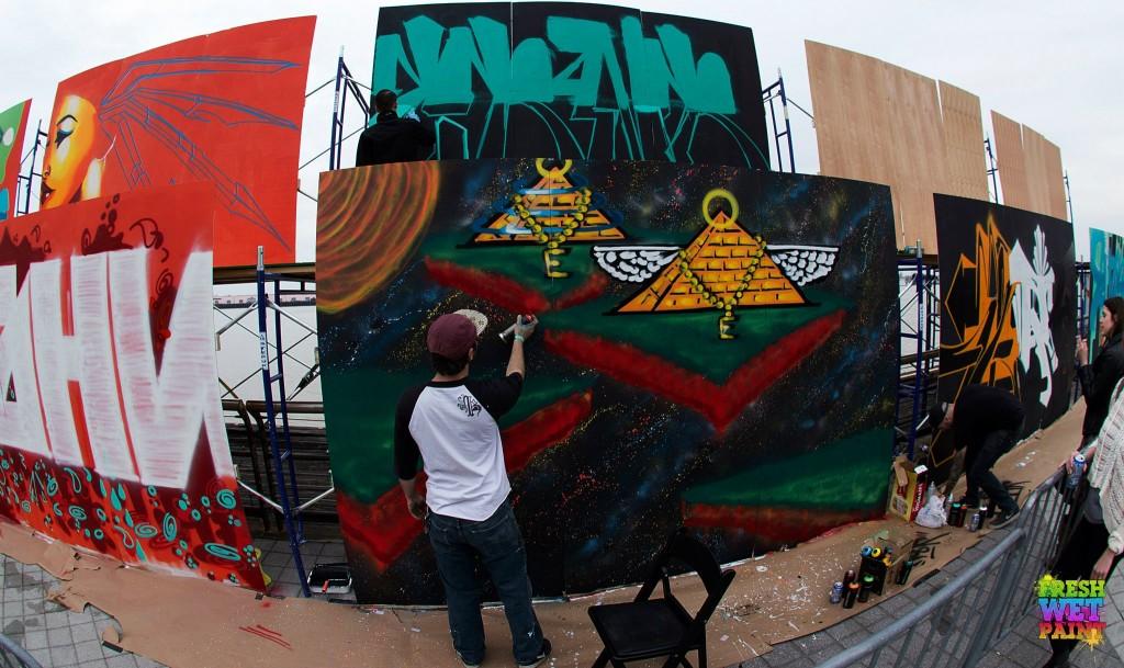BUKU Music + Art Project 2013 grafitti