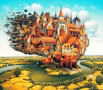 Jacek Yerka Paints Surreal Fantasies